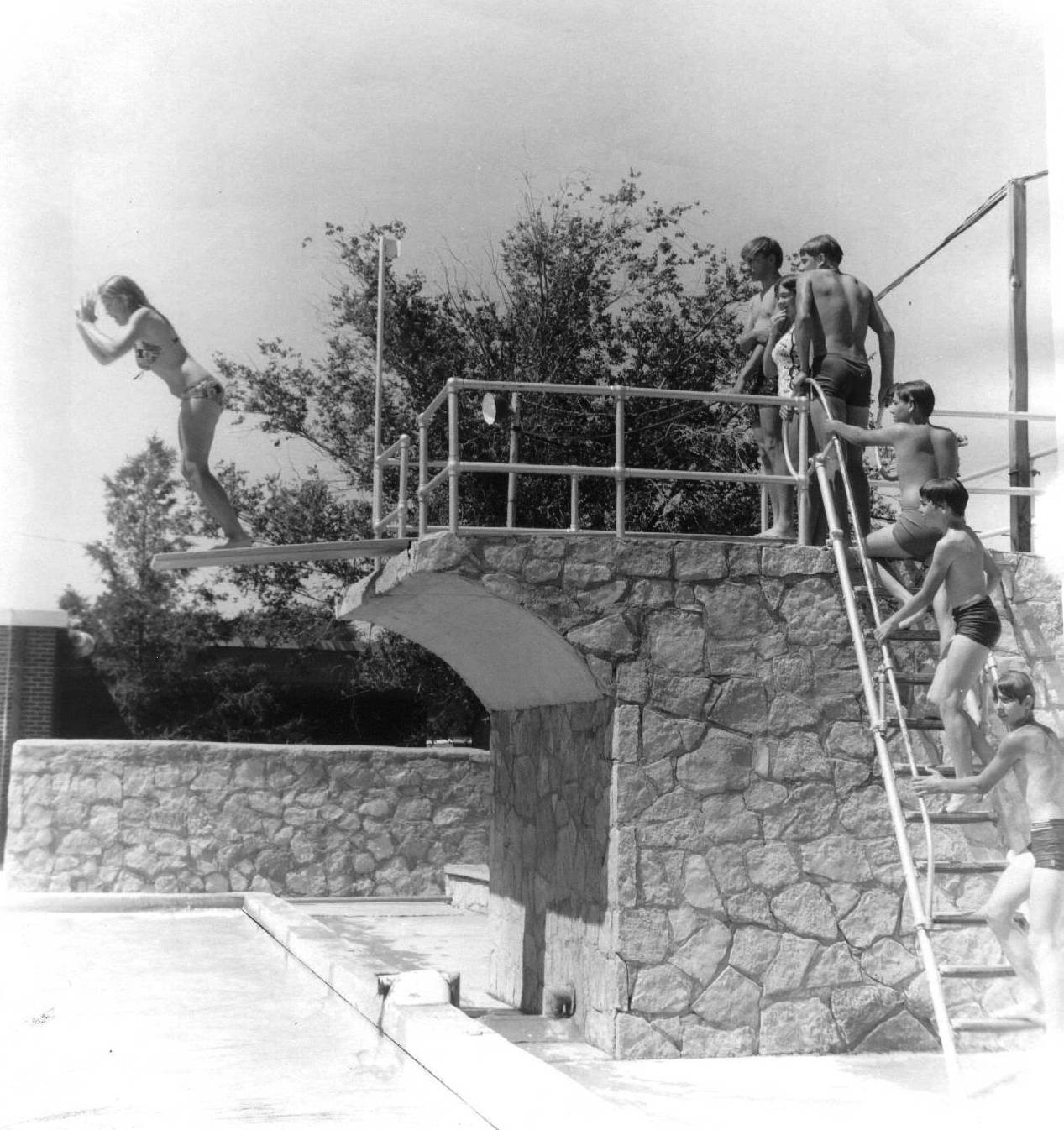 city swimming pool 1972 stone col no number